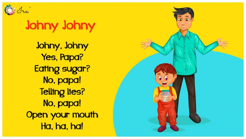 Johny Johny Yes Papa lyrics in English