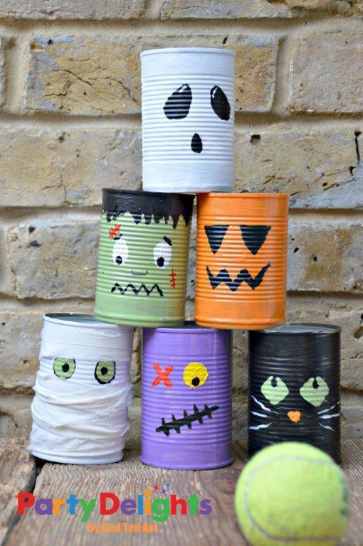 Halloween Tin Can Bowling Craft