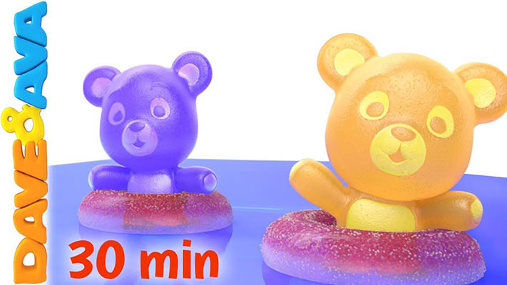 Five little Gummy Bears Song Dave and ava Nursery Rhymes