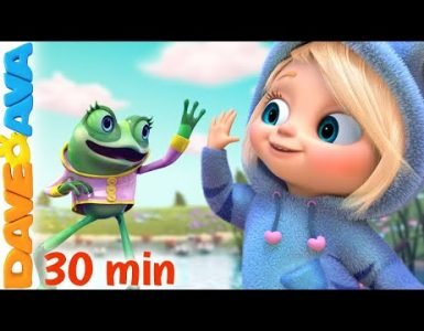 Five Little Spekled Frog Dave and Ava Nursery Rhymes